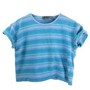 '80s-'90s Vintage Striped Liz Wear Crop Top Medium